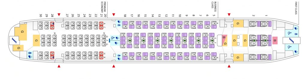 Seat Map and Seating Chart Airbus A380 800 Upper Deck All Nippon Airways ANA