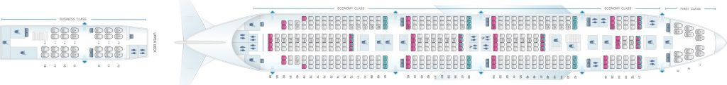 Seat Map and Seating Chart Boeing 747 400 Air India