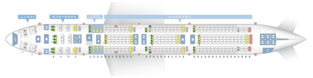Seat Map and Seating Chart Boeing 747 400 Lower Deck EL AL