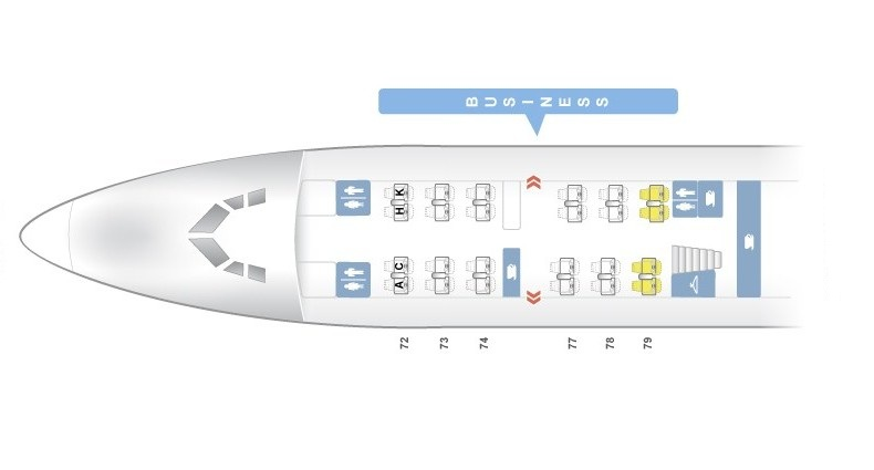 Seat Map and Seating Chart Boeing 747 400 Upper Deck EL AL