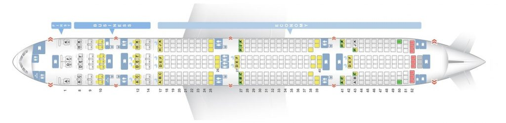 Seat Map and Seating Chart Boeing 777 300ER Air India