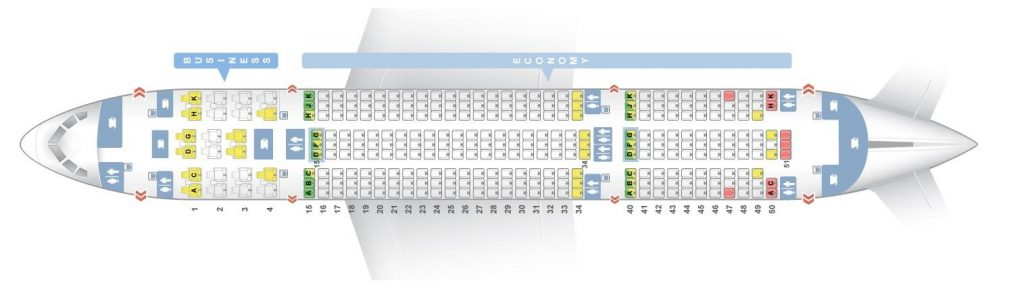 Seat Map and Seating Chart Boeing 787 8 Dreamliner Air Europa