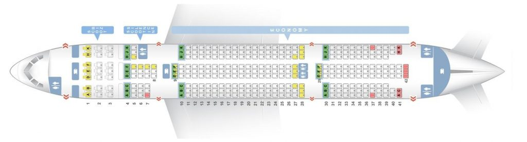 Seat Map and Seating Chart Boeing 787 8 Dreamliner Scoot Airlines