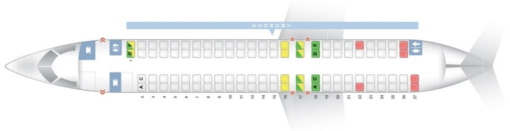 Seat Map and Seating Chart Bombardier CRJ 1000 Iberia Regional Air Nostrum