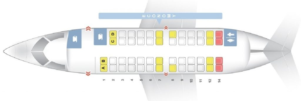 Seat Map and Seating Chart Bombardier CRJ 200 Iberia Regional Air Nostrum