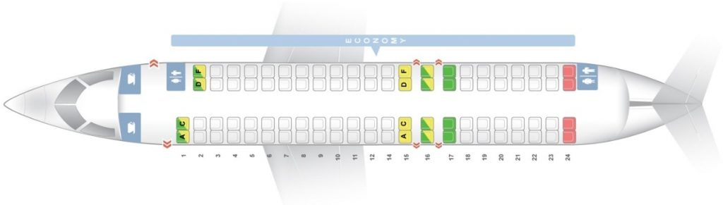 Seat Map and Seating Chart Bombardier CRJ 900 Iberia Regional Air Nostrum