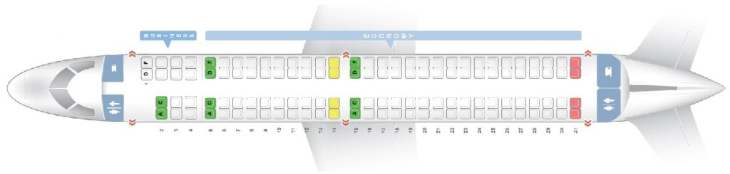 Seat Map and Seating Chart Embraer 195 Air Europa Express