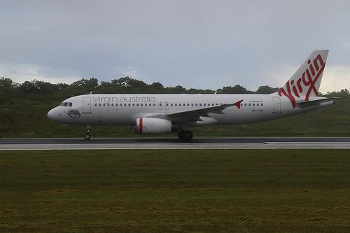VH FNP Virgin Australia A320 231 Little Parakeet Bay at Christmas Island