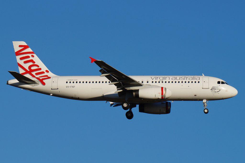 VH FNP Virgin Australia Airbus A320 231 Honeymoon Cove at Perth Airport
