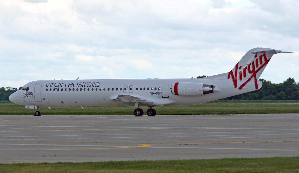 VH FNT Virgin Australia Regional Fokker F100