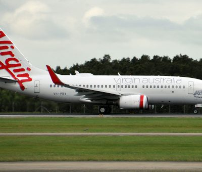 VH VBY Kingston Beach Boeing 737 7FEWL Virgin Australia at Brisbane Airport