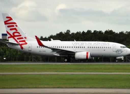 VH VBY Kingston Beach Boeing 737 7FEWL Virgin Australia at Brisbane Airport