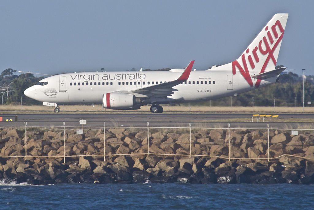 VH VBY Kingston Beach Boeing 737 7FEWL Virgin Australia at Sydney Airport