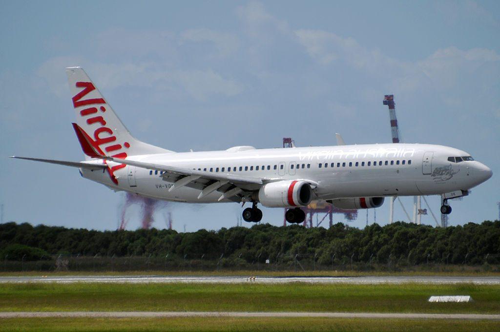 VH VOK Johanna Beach Boeing 737 8FEWL Virgin Australia at Brisbane International Airport