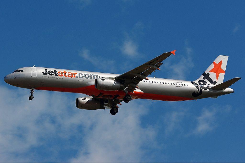 VH VWY Airbus A321 231 of Jetstar Airways at Darwin International Airport