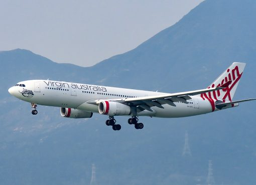 VH XFE Airbus A330 243 Manly Beach of Virgin Australia at Hong Kong International Airport
