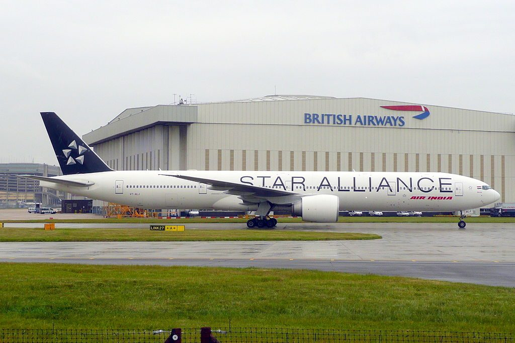 VT ALJ Boeing 777 300ER Odisha of Air India on STAR ALLIANCE livery at London Heathrow Airport