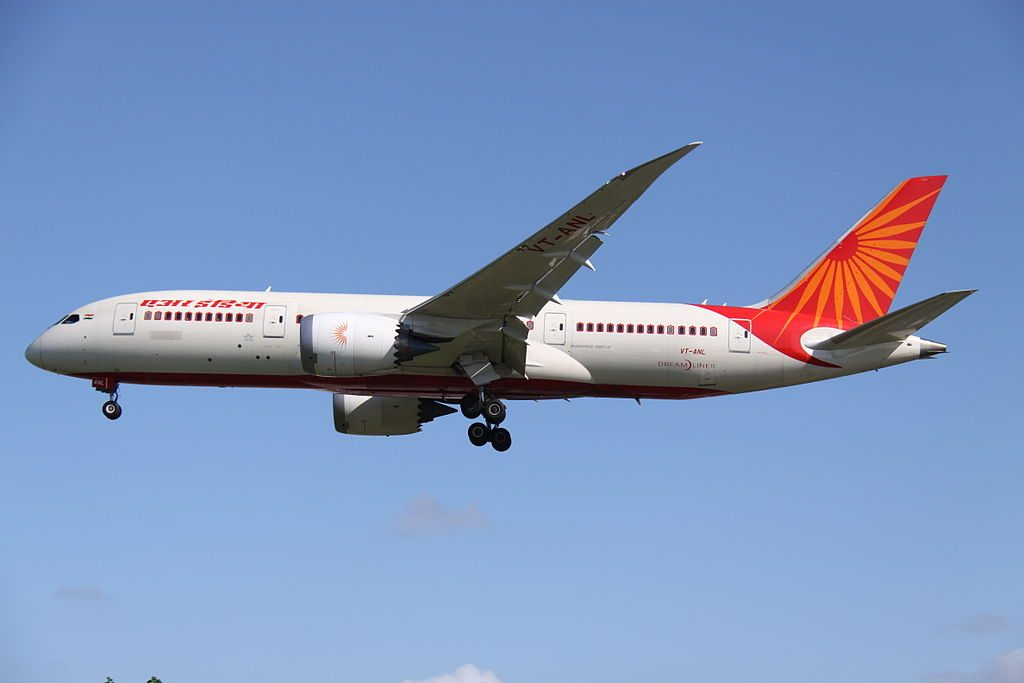 VT ANL Boeing 787 8 Dreamliner of Air India at London Heathrow Airport