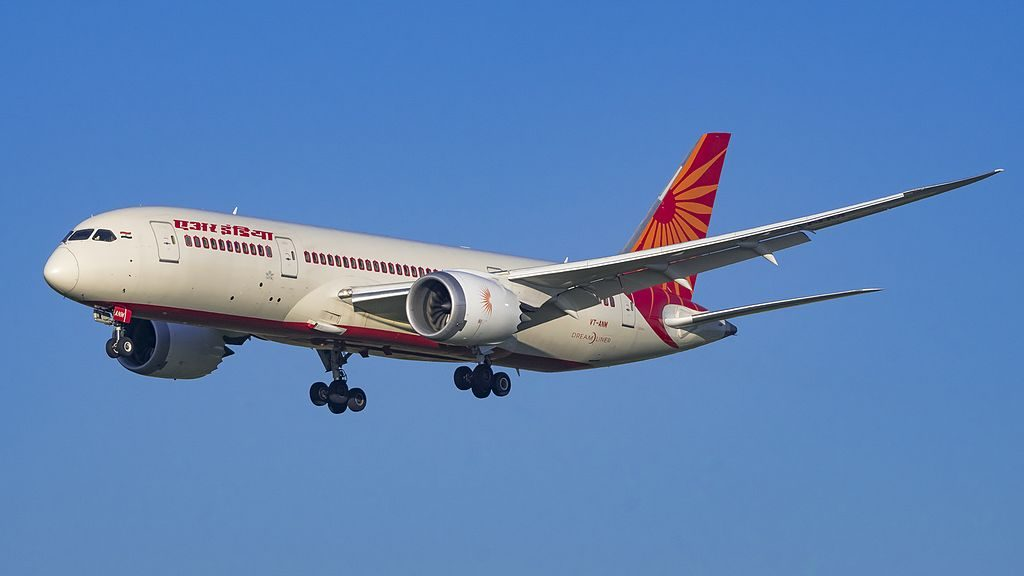 VT ANM Boeing 787 8 Dreamliner of Air India at Domodedovo International Airport