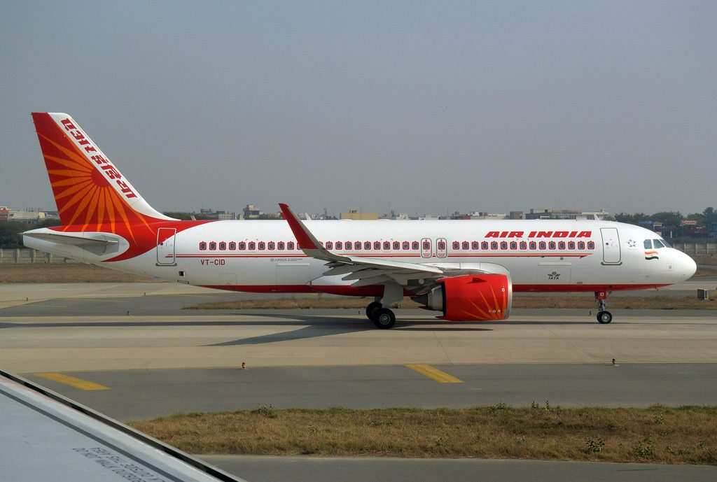 VT CID Air India Airbus A320Neo at Delhi Indira Gandhi Aiport