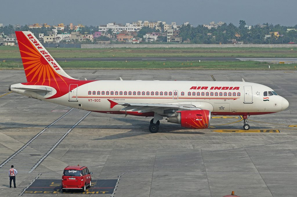 VT SCC Air India A319 112 at Netaji Subhash Chandra Bose International Airport