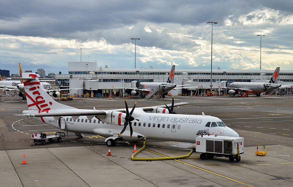Virgin Australia ATR 72 600 72 212A VH FVZ Angourie Beach at Sydney Airport