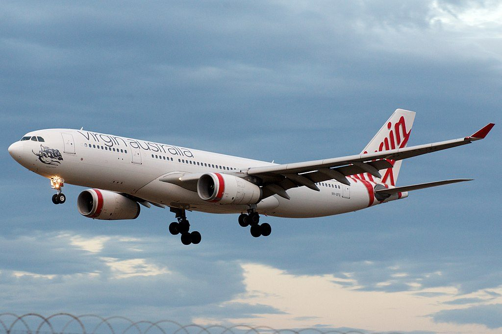 Virgin Australia Airbus A330 200 VH XFG Terrigal Beach at Melbourne Airport