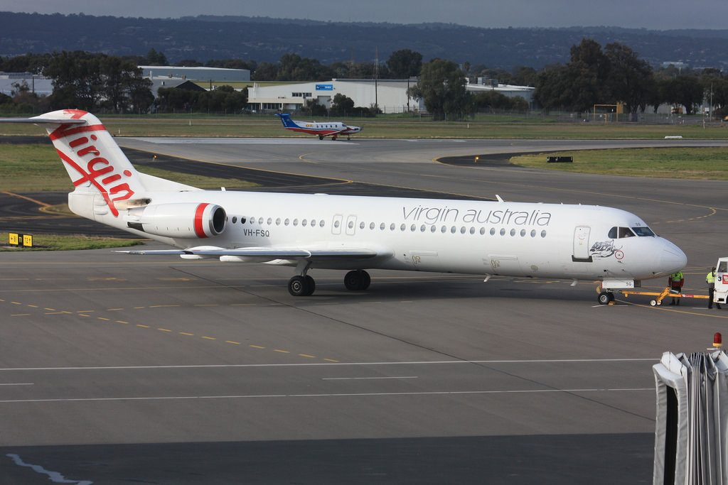 Virgin Australia Regional Fokker 100 VH FSQ Bills Bay