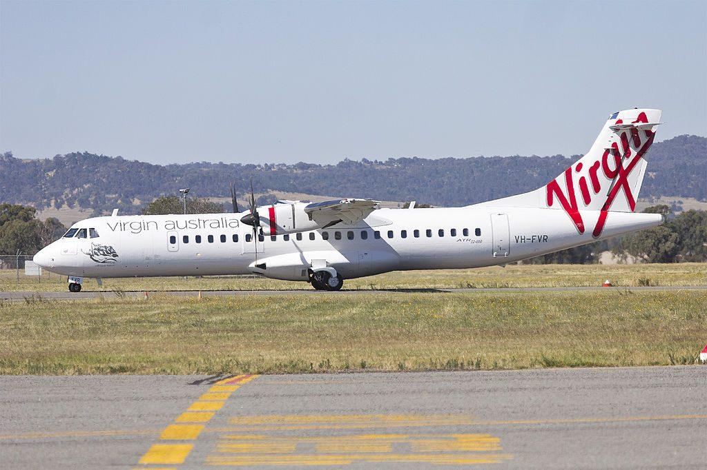 Virgin Australia Regional VH FVR ATR 72 600 Yallingup Beach taxiing at Wagga Wagga Airport