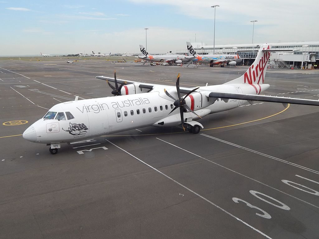 Virgin Australia Regional VH VPI ATR 72 600 Bronte Beach at Sydney Airport