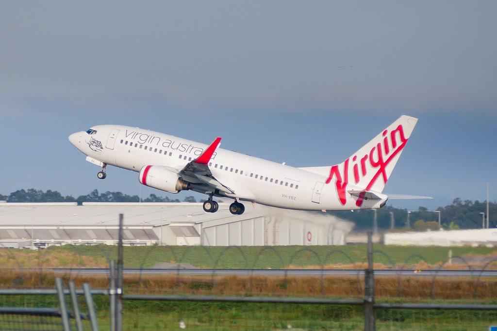 Virgin Australia VH VBZ Boeing 737 7FEWL Cronulla Beach at Brisbane International