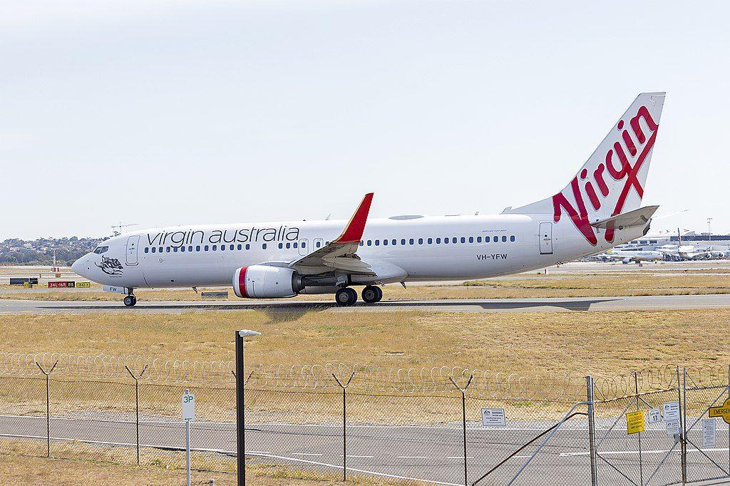 Virgin Australia VH YFW Boeing 737 8FEWL Turquoise Bay at Sydney Airport