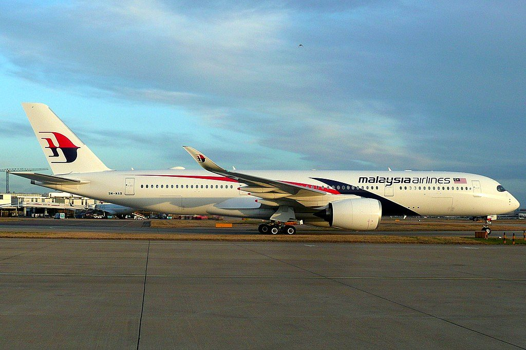 9M MAB Airbus A350 941 of Malaysia Airlines at London Heathrow Airport