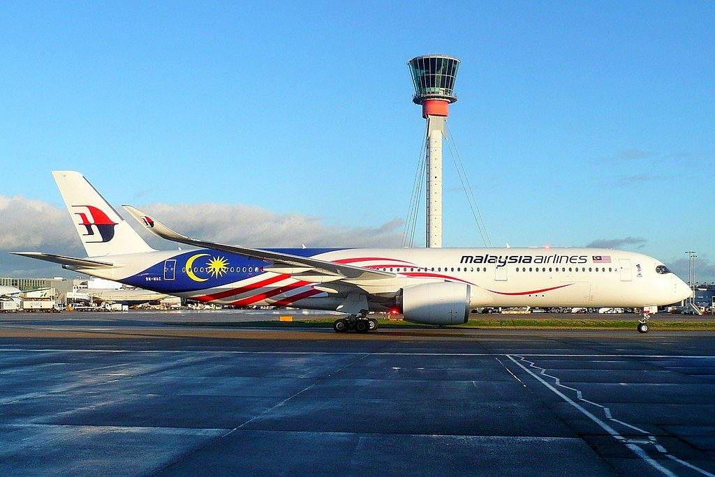 9M MAC Airbus A350 941 of Malaysia Airlines Negaraku Livery at London Heathrow Airport