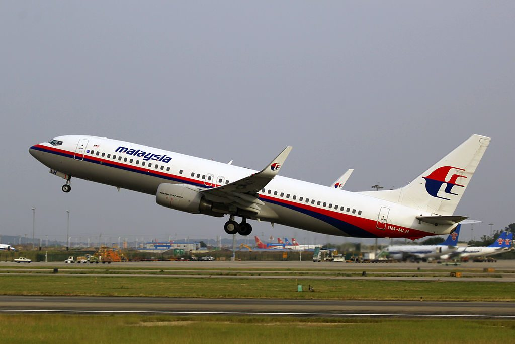 9M MLH Malaysia Airlines Boeing 737 8FZWL at Guangzhou Baiyun International Airport