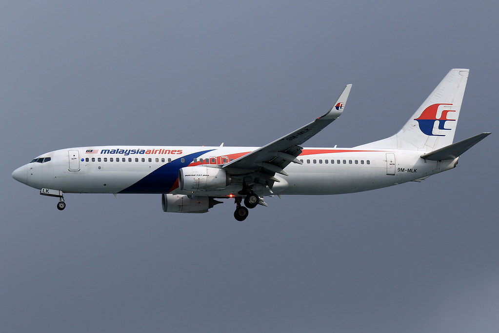 9M MLK Malaysia Airlines Boeing 737 8FZWL at Jakarta Soekarno Hatta Airport