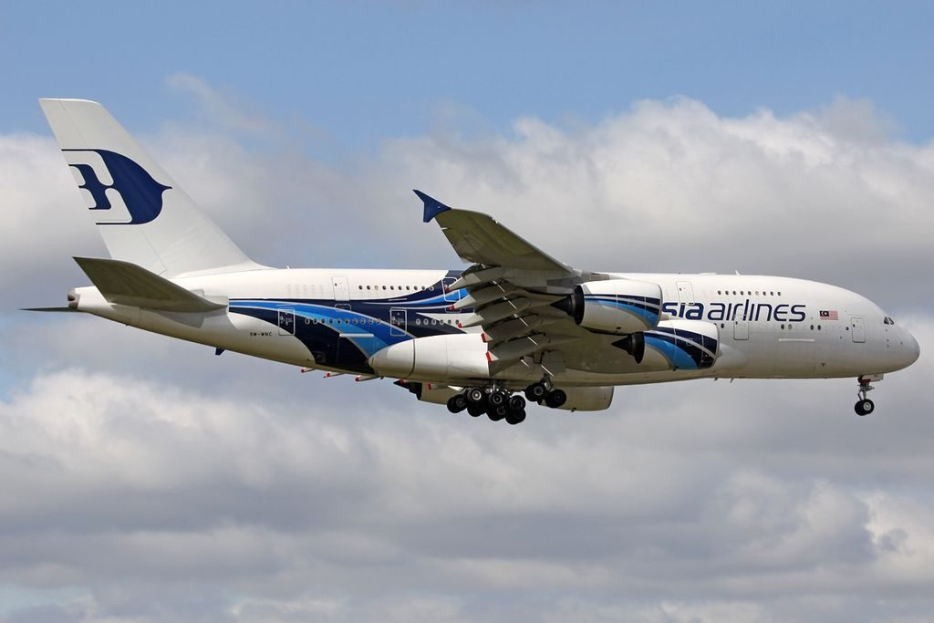 9M MNC Airbus A380 841 Malaysia Airlines at London Heathrow Airport