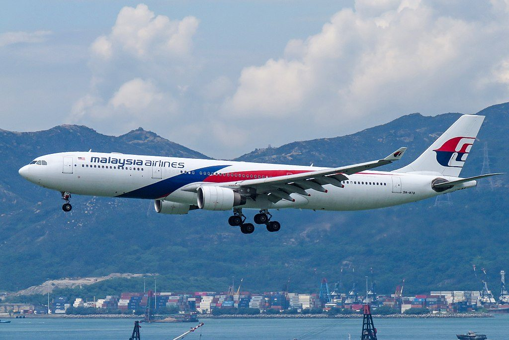 9M MTB Airbus A330 323 of Malaysia Airlines at Hong Kong International Airport