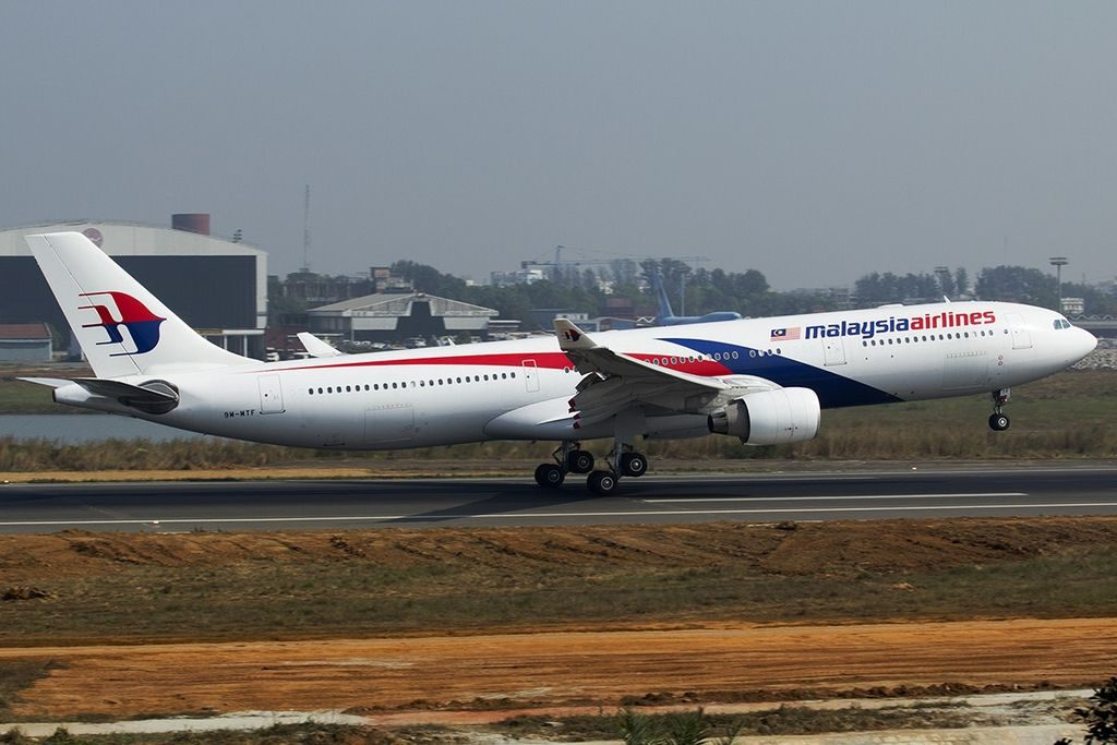 9M MTF Airbus A330 323 of Malaysia Airlines at Shahjalal International Airport