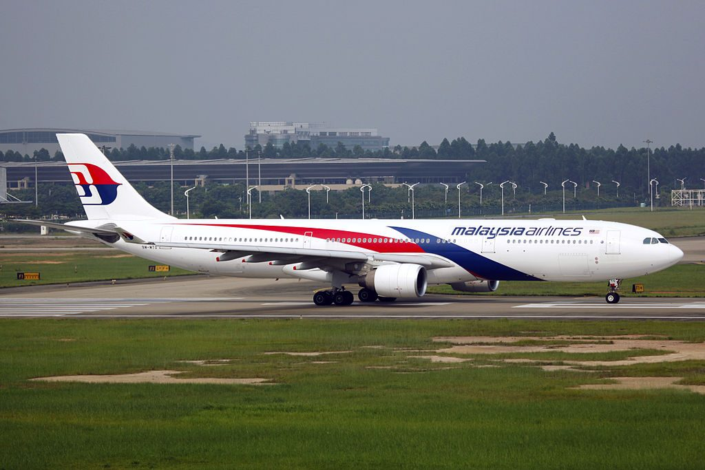 9M MTG Malaysia Airlines Airbus A330 323 at Guangzhou Baiyun International Airport