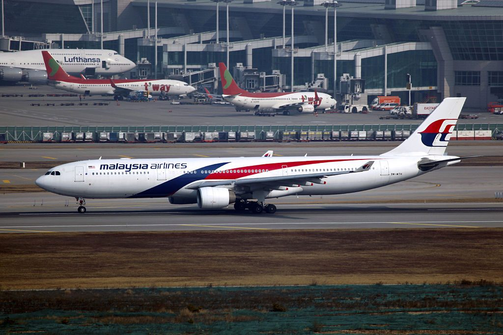 9M MTH Malaysia Airlines Airbus A330 323 at Incheon International Airport