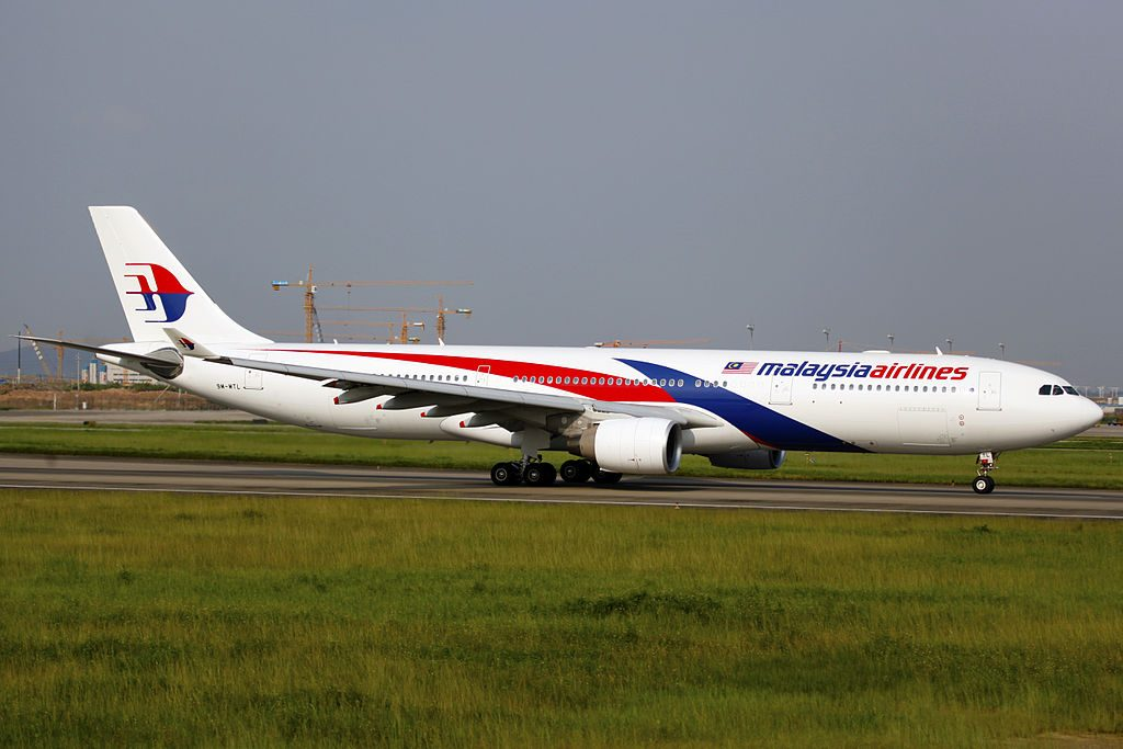 9M MTL Malaysia Airlines Airbus A330 323 at Guangzhou Baiyun International Airport