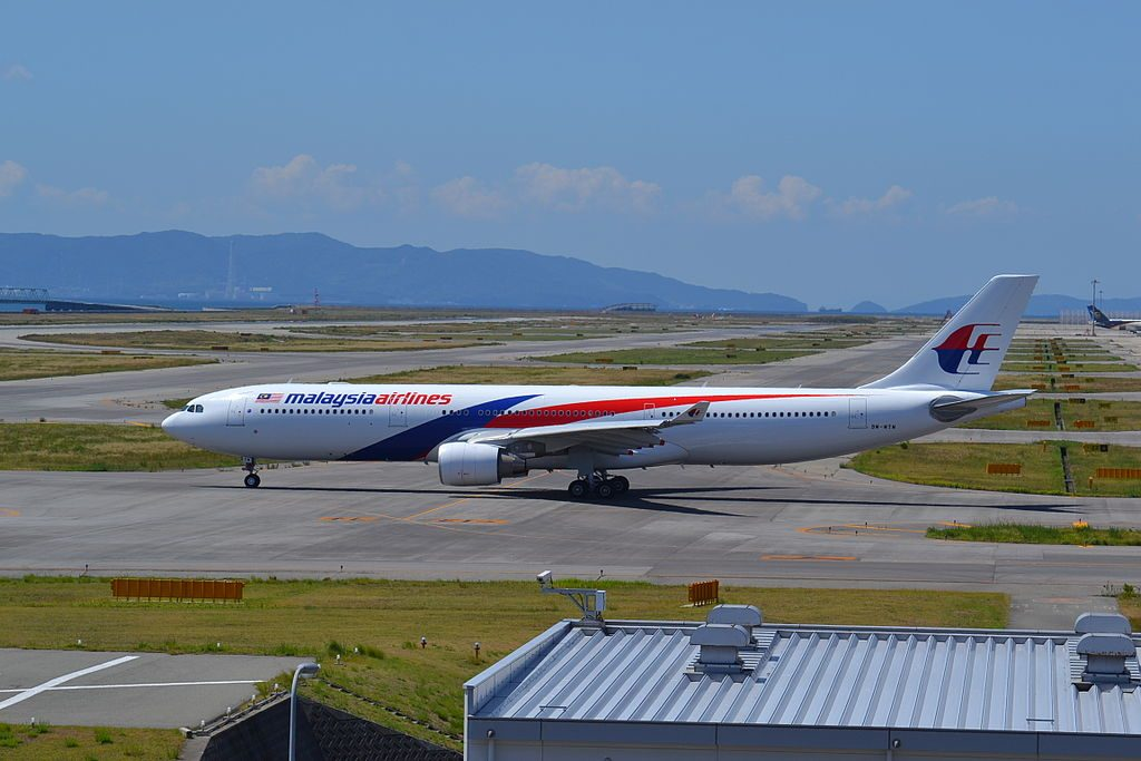 9M MTM Airbus A330 323 of Malaysian Airlines at Osaka Kansai