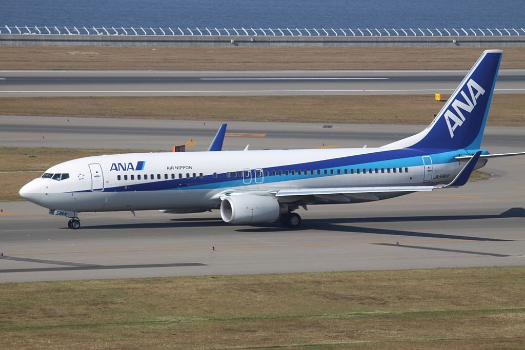 ANA Air Nippon Boeing 737 881WL JA58AN at Nagoya Chūbu Centrair International