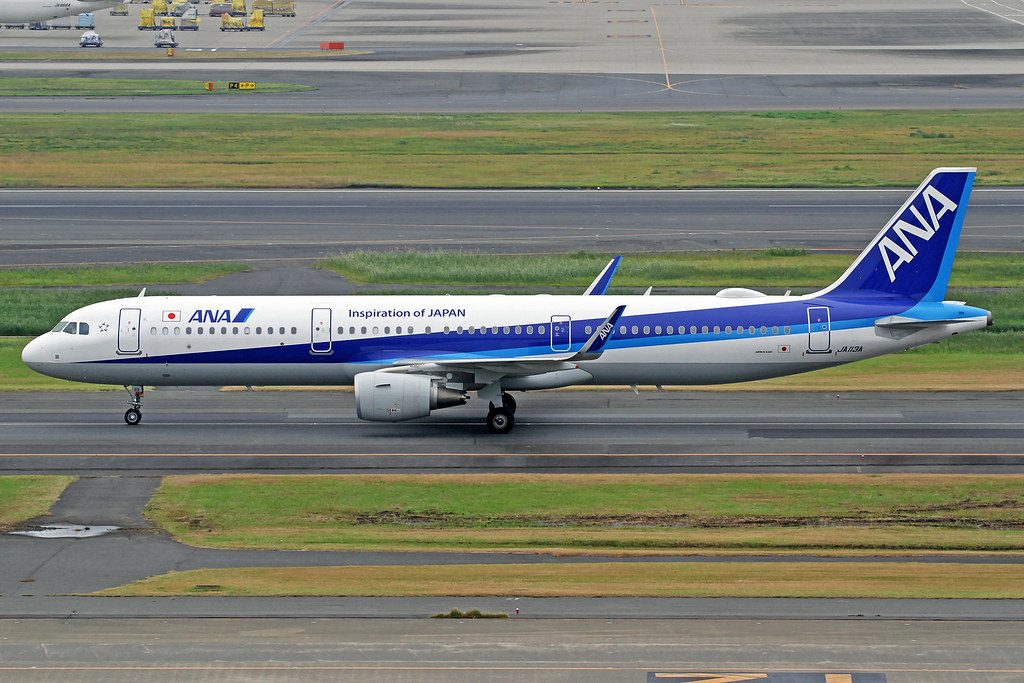 ANA All Nippon Airways Airbus A321 211 JA113A at Haneda Airport