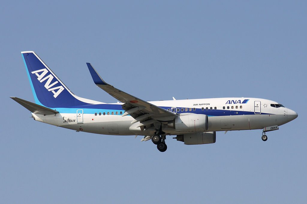 ANA All Nippon Airways JA06AN Boeing 737 781WL Final approach to Runway 36 Naha Airport Okinawa