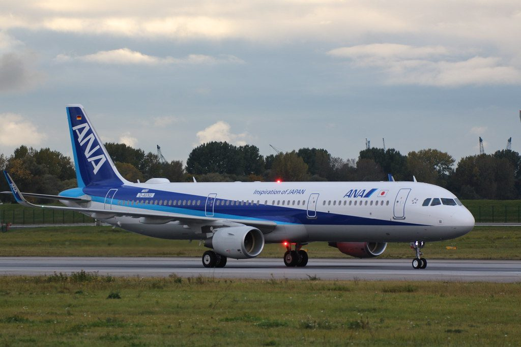 ANA All Nippon Airways JA111A Airbus A321 211WL