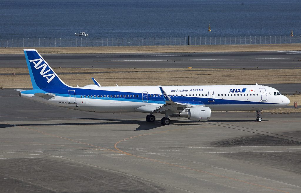 ANA All Nippon Airways JA114A Airbus A321 211WL at Haneda Airport