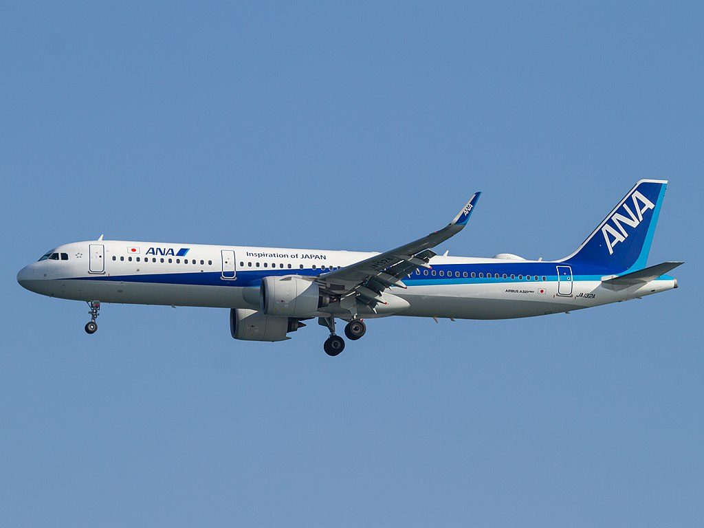 ANA All Nippon Airways JA132A Airbus A321 272N at Tokyo International Airport