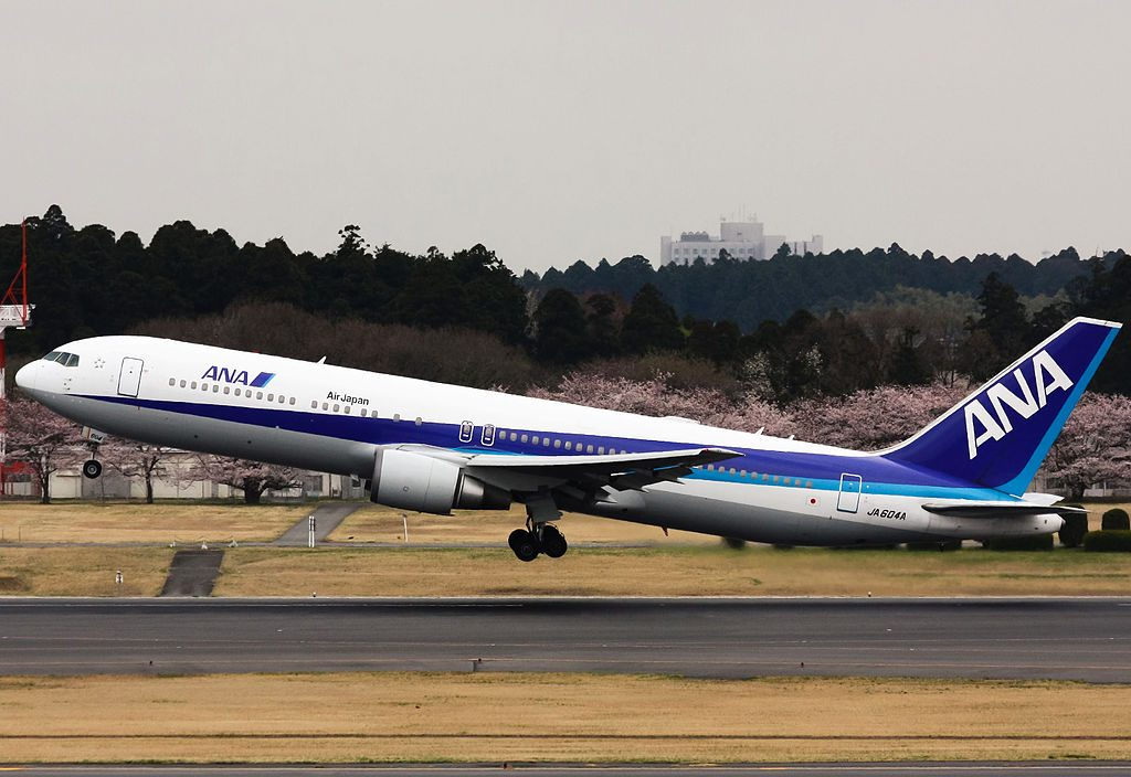 ANA All Nippon Airways JA604A Boeing 767 381ER at Narita International Airport